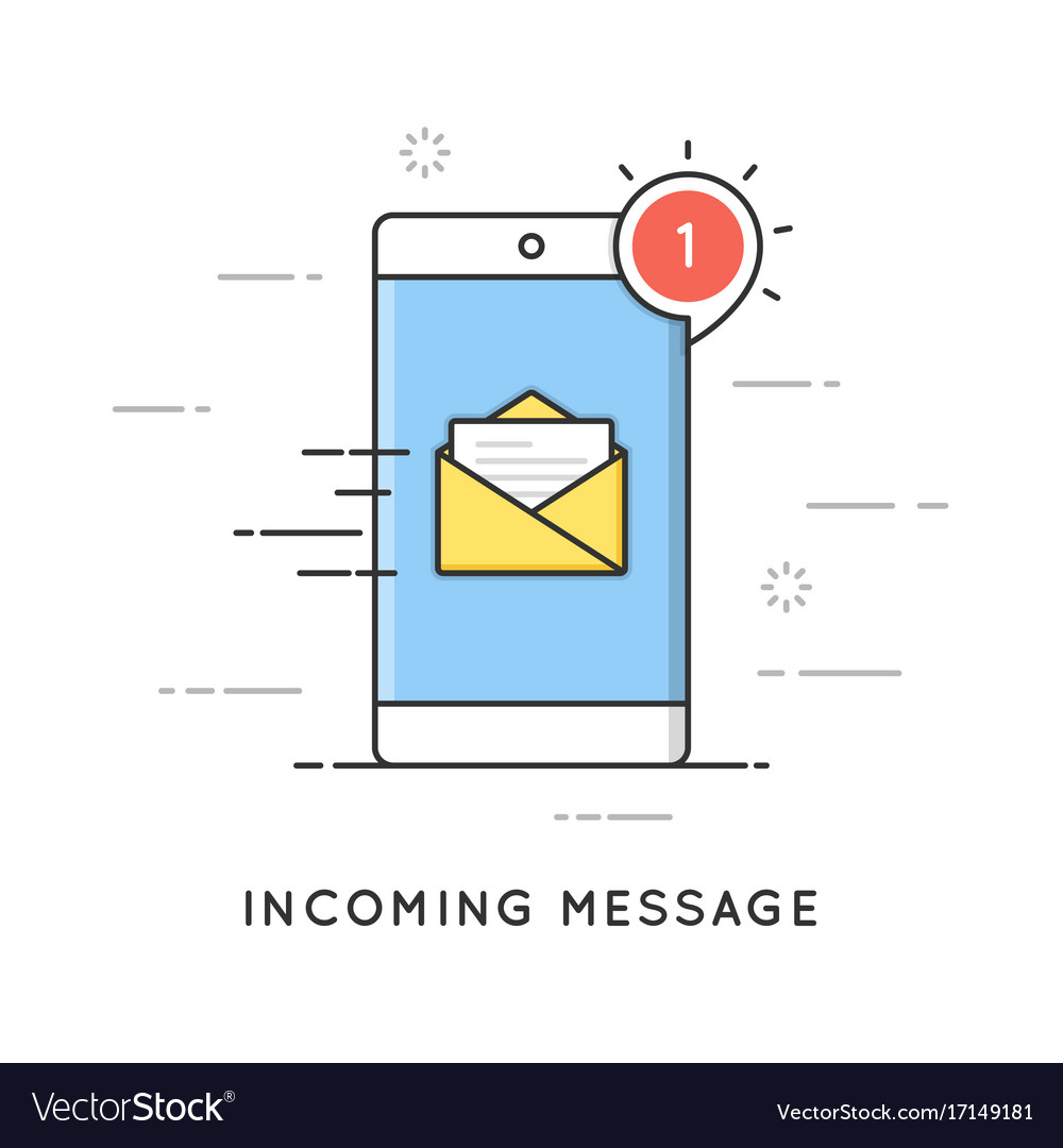 Incoming email notification new message flat