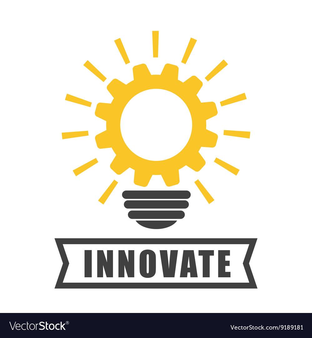 Innovate design idea icon flat
