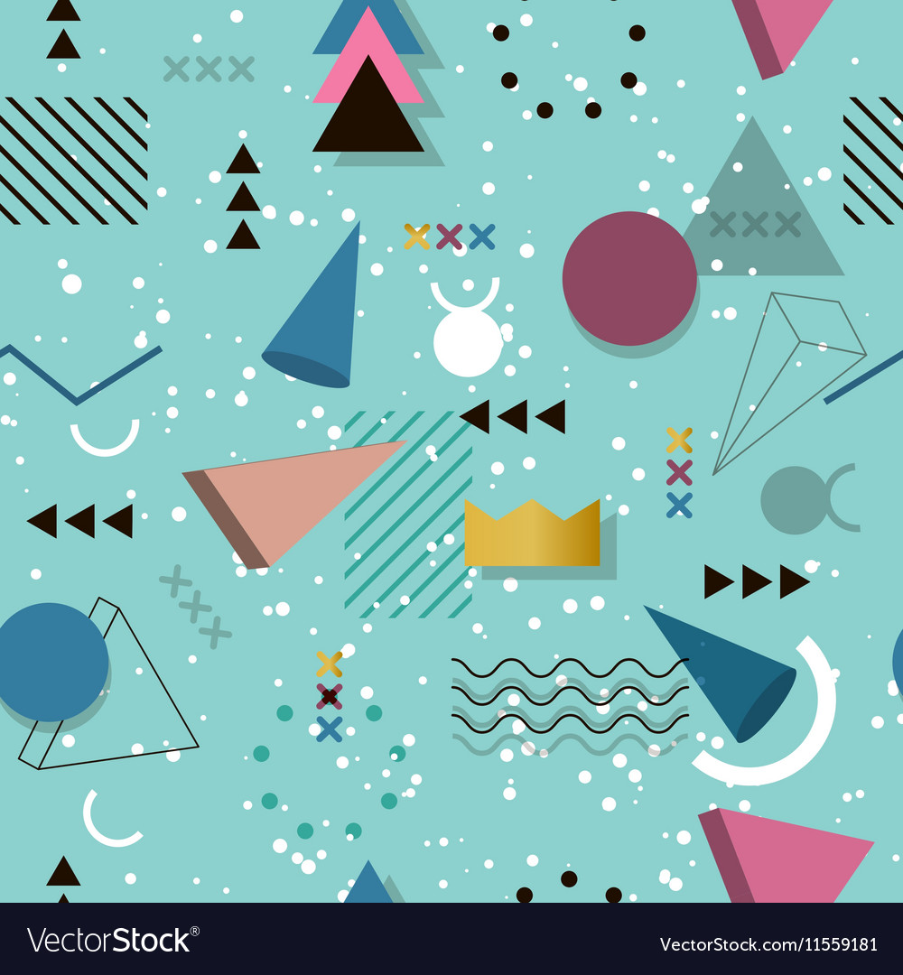 memphis pattern of geometric shapes for tissue and