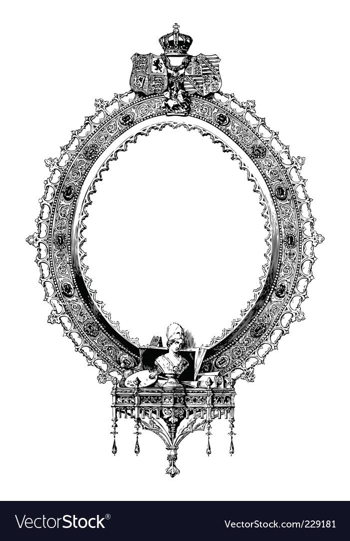 ornate frame royalty free vector image vectorstock