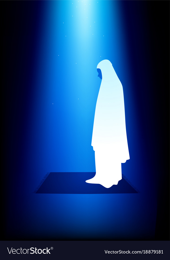 Simple graphic of a muslim woman praying