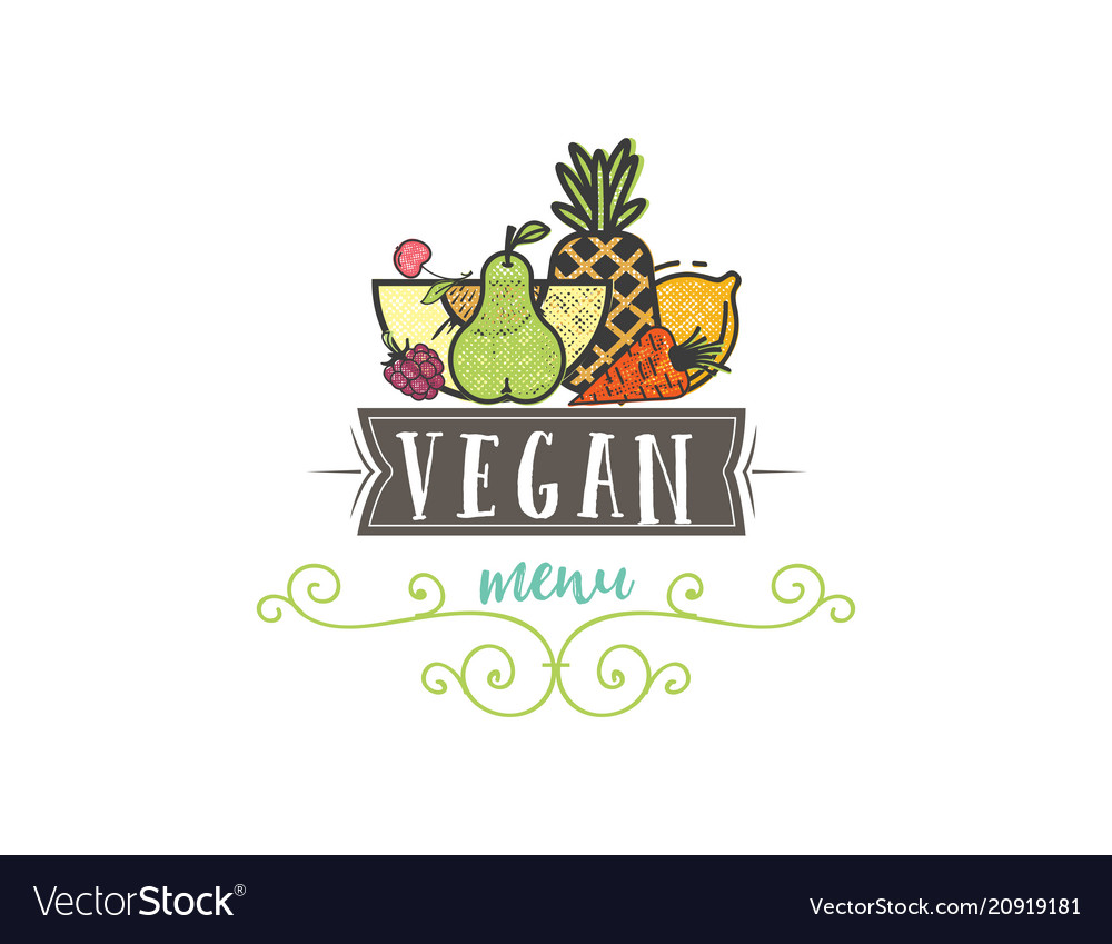 Symbol healthy cooking logo and organic food