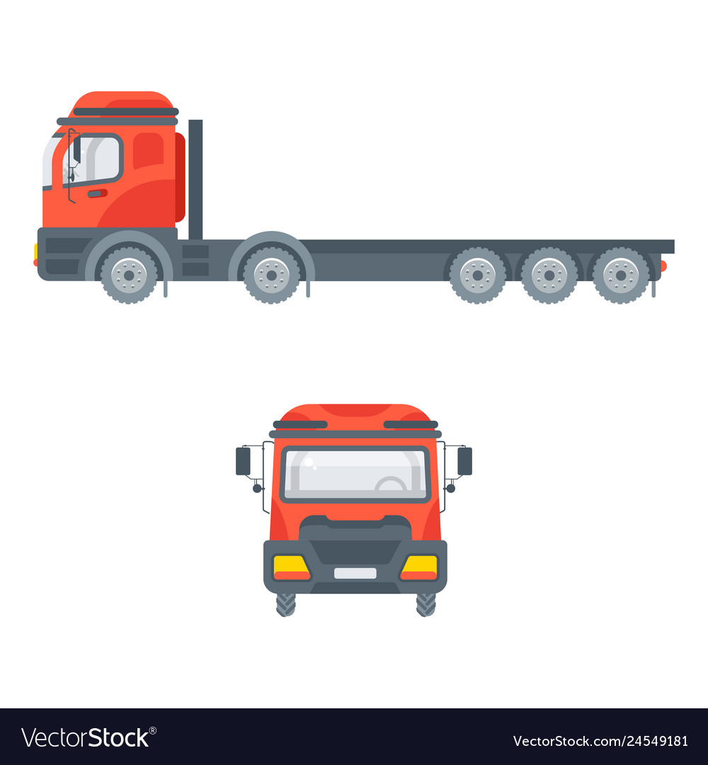 Truck tractors for building material