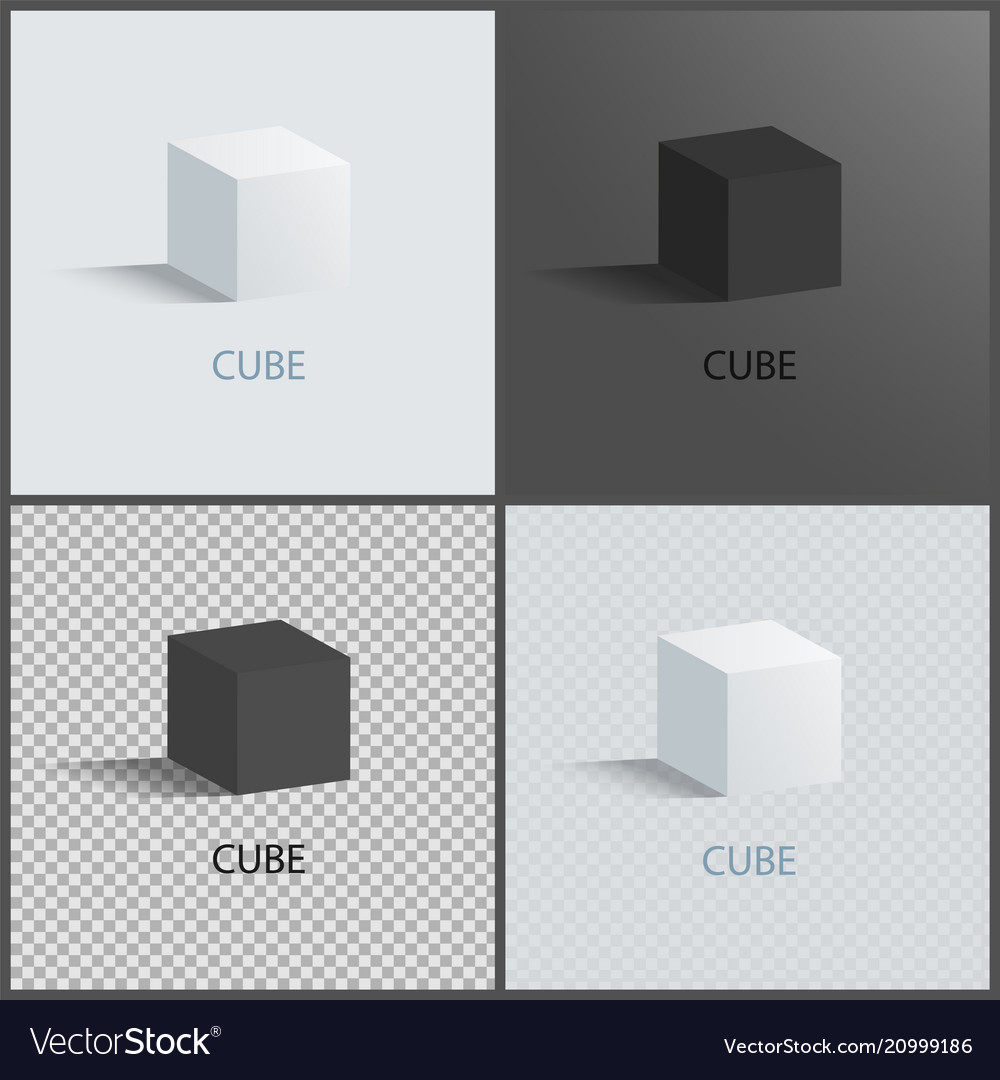 Black and white cubes set