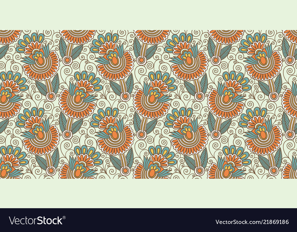 Flower seamless pattern paisley indian design