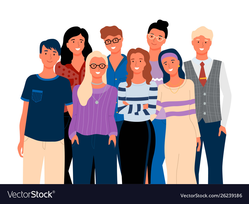 Friends or relatives smiling man and woman