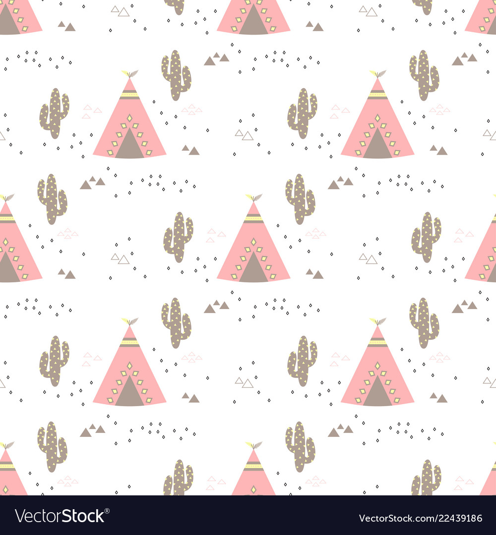 Pattern with teepees