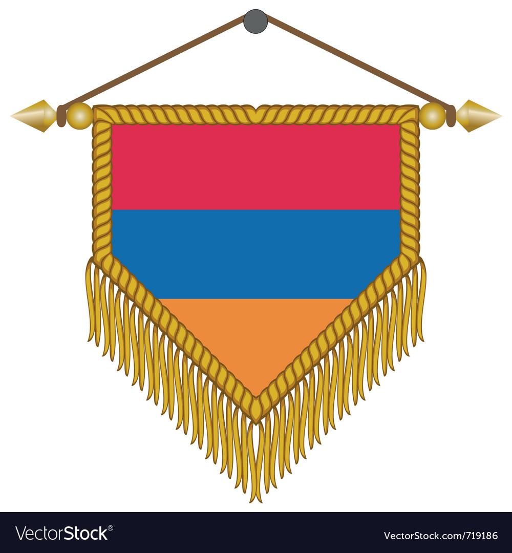 Pennant with the flag of armenia