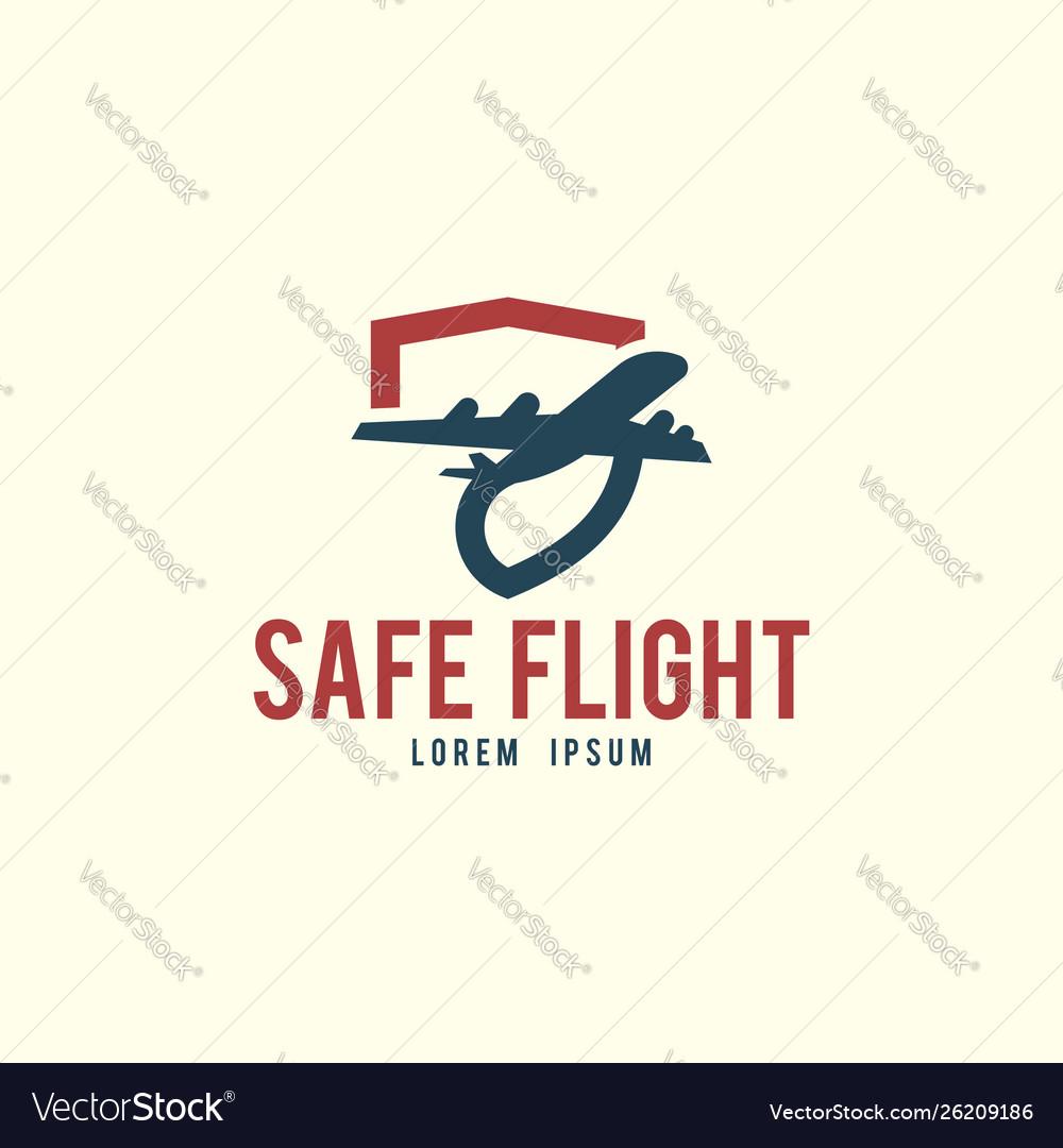Safe flight logo template