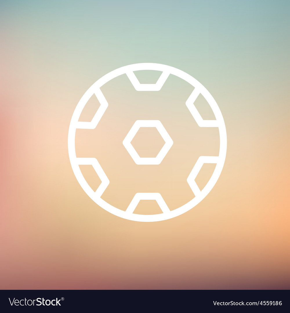Soccer ball thin line icon