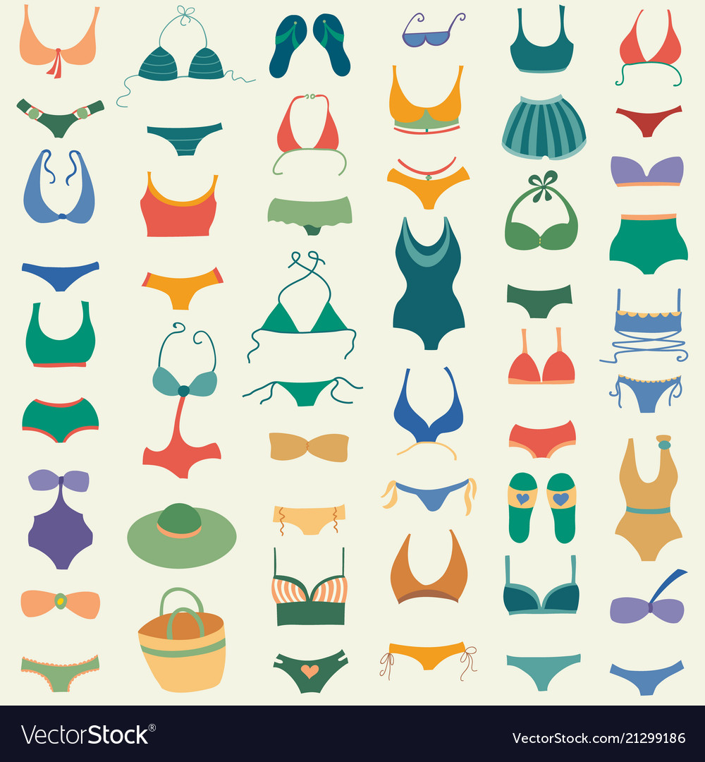 Swimming suit seamless pattern