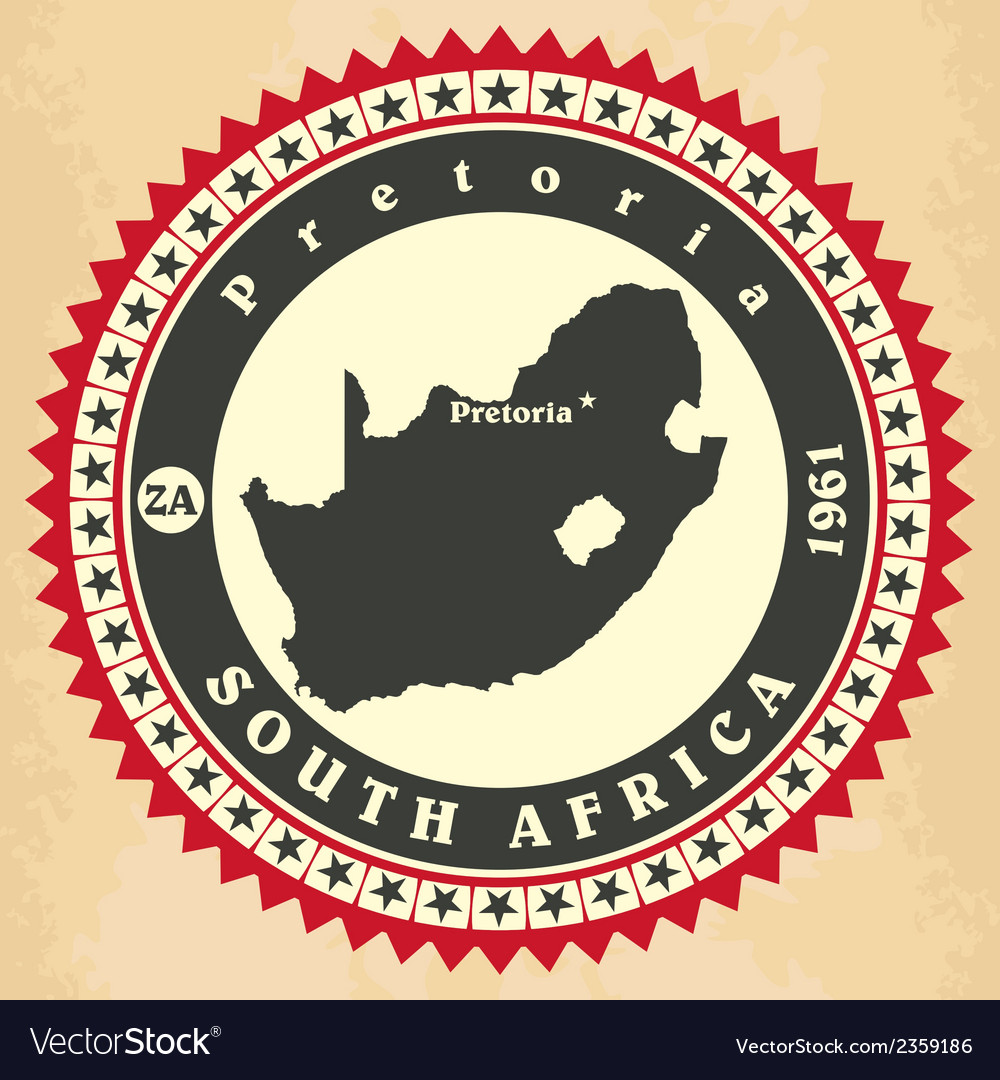Vintage label-sticker cards of South Africa vector image