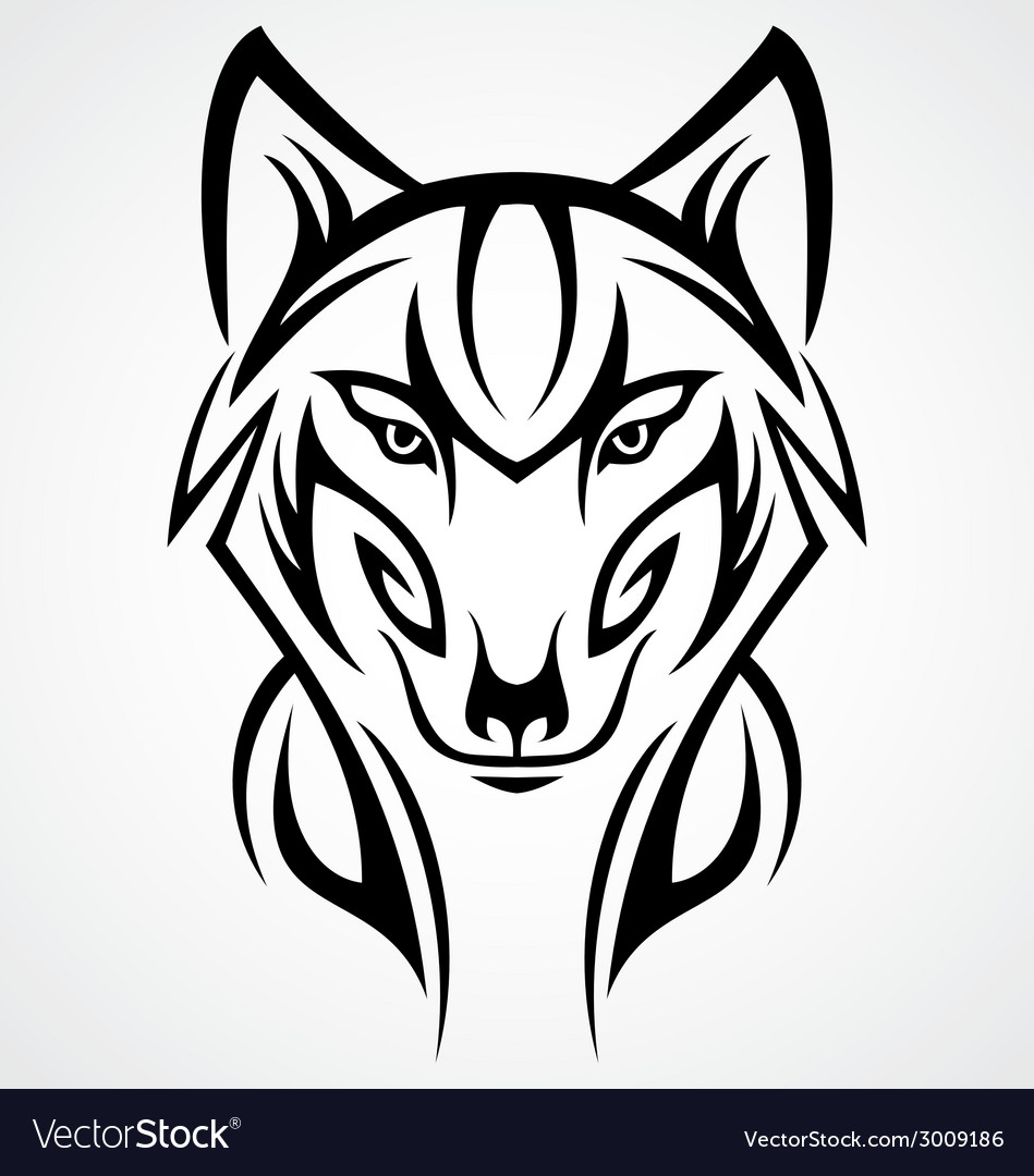 15b47658b95f4 Wolf Head Tattoo Design Royalty Free Vector Image