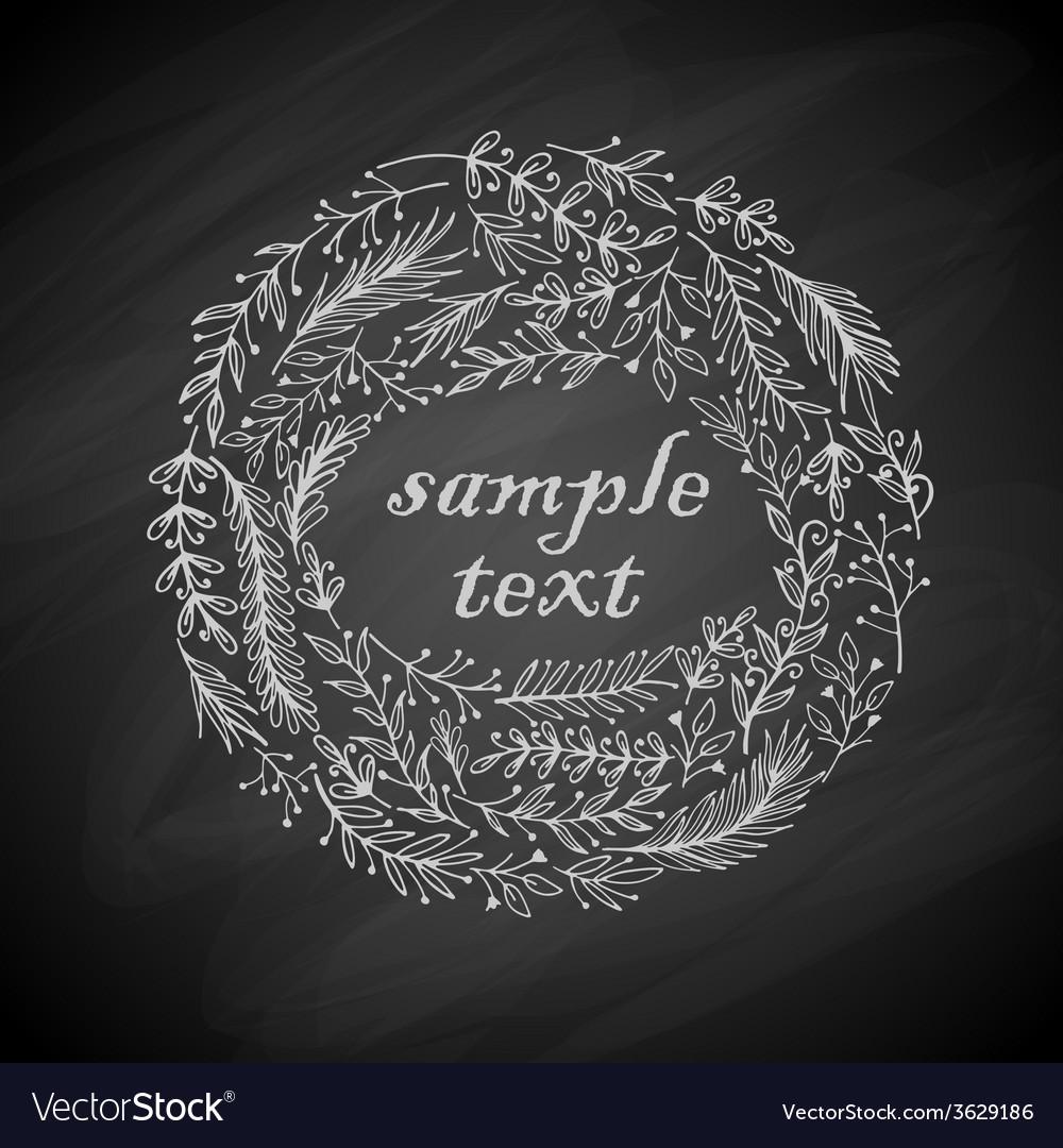 Wreath frame vector image