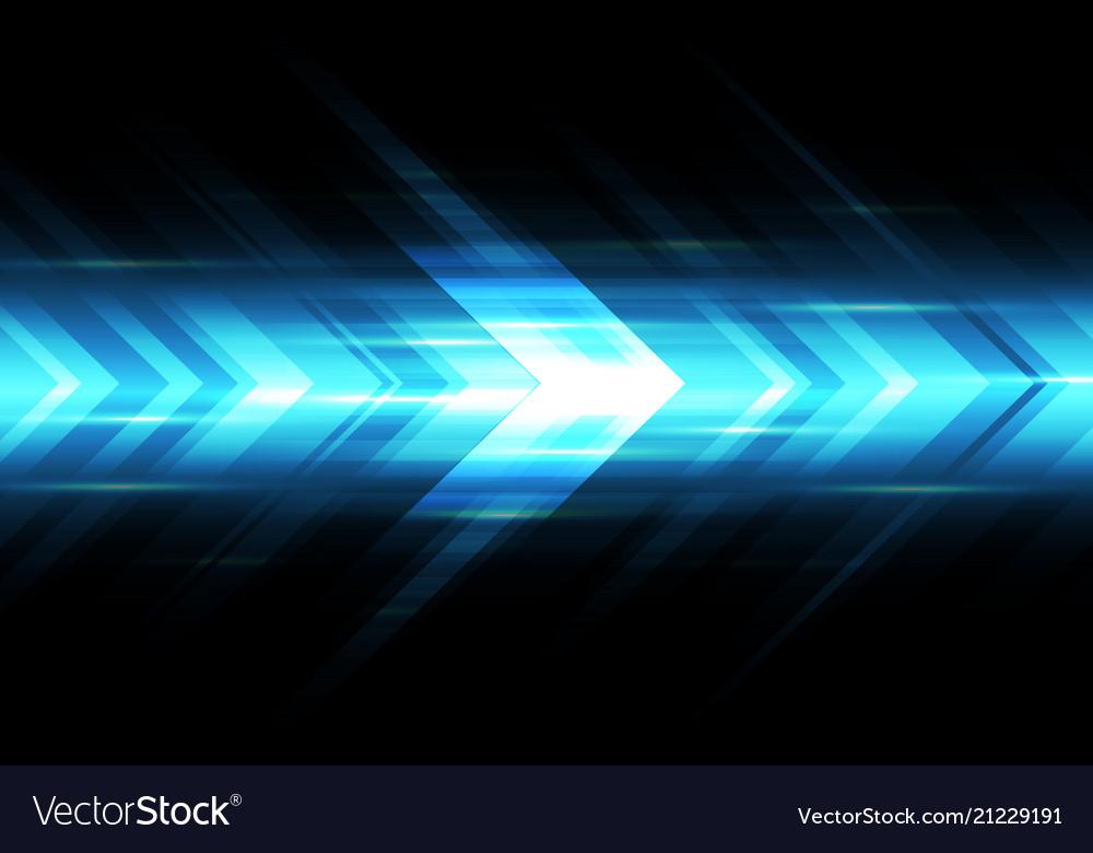 Abstract blue light arrow speed power technology