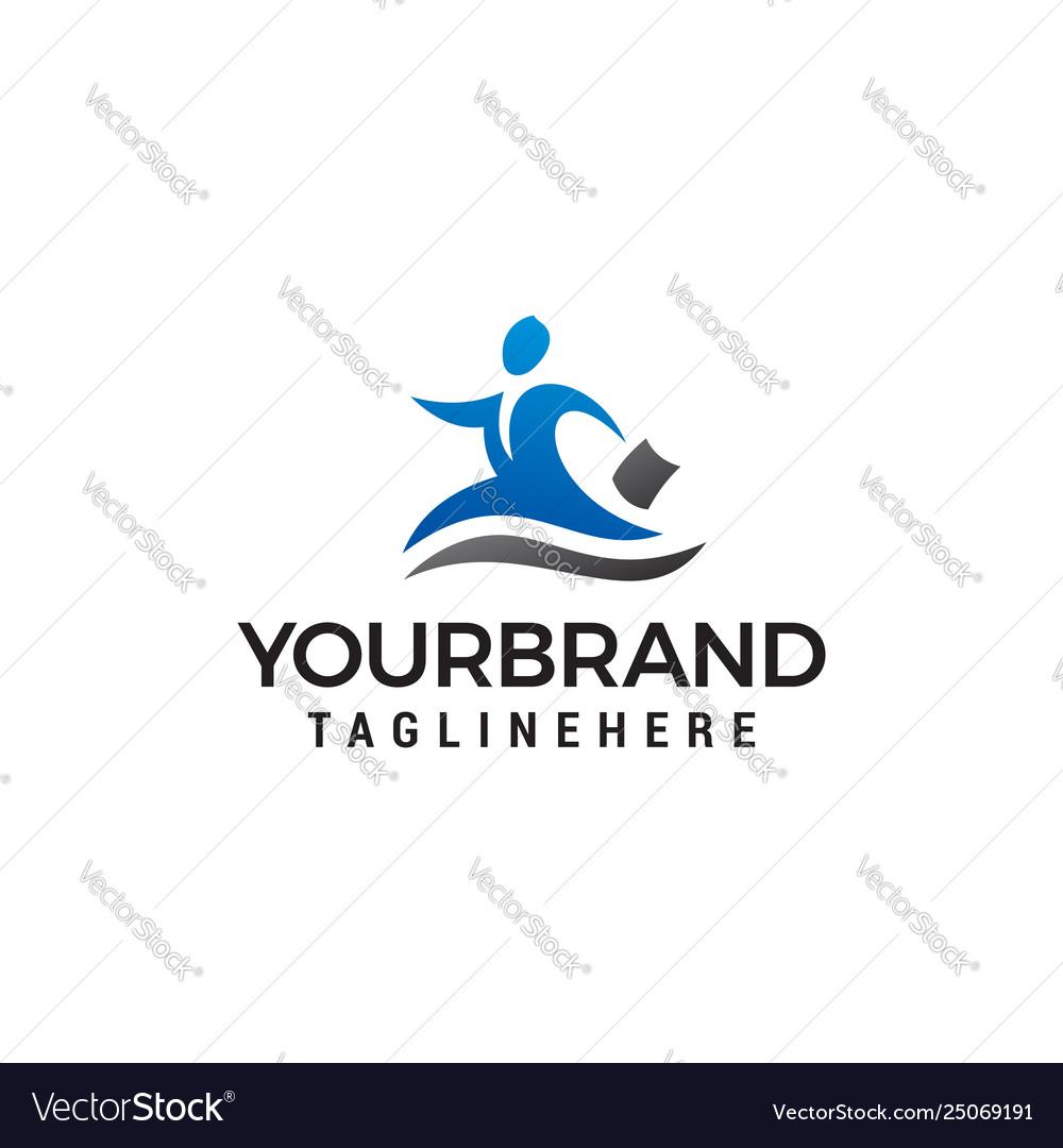 Business people logo design concept template