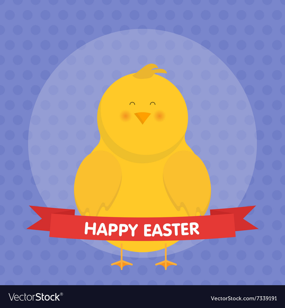 Cute Easter chick isolated