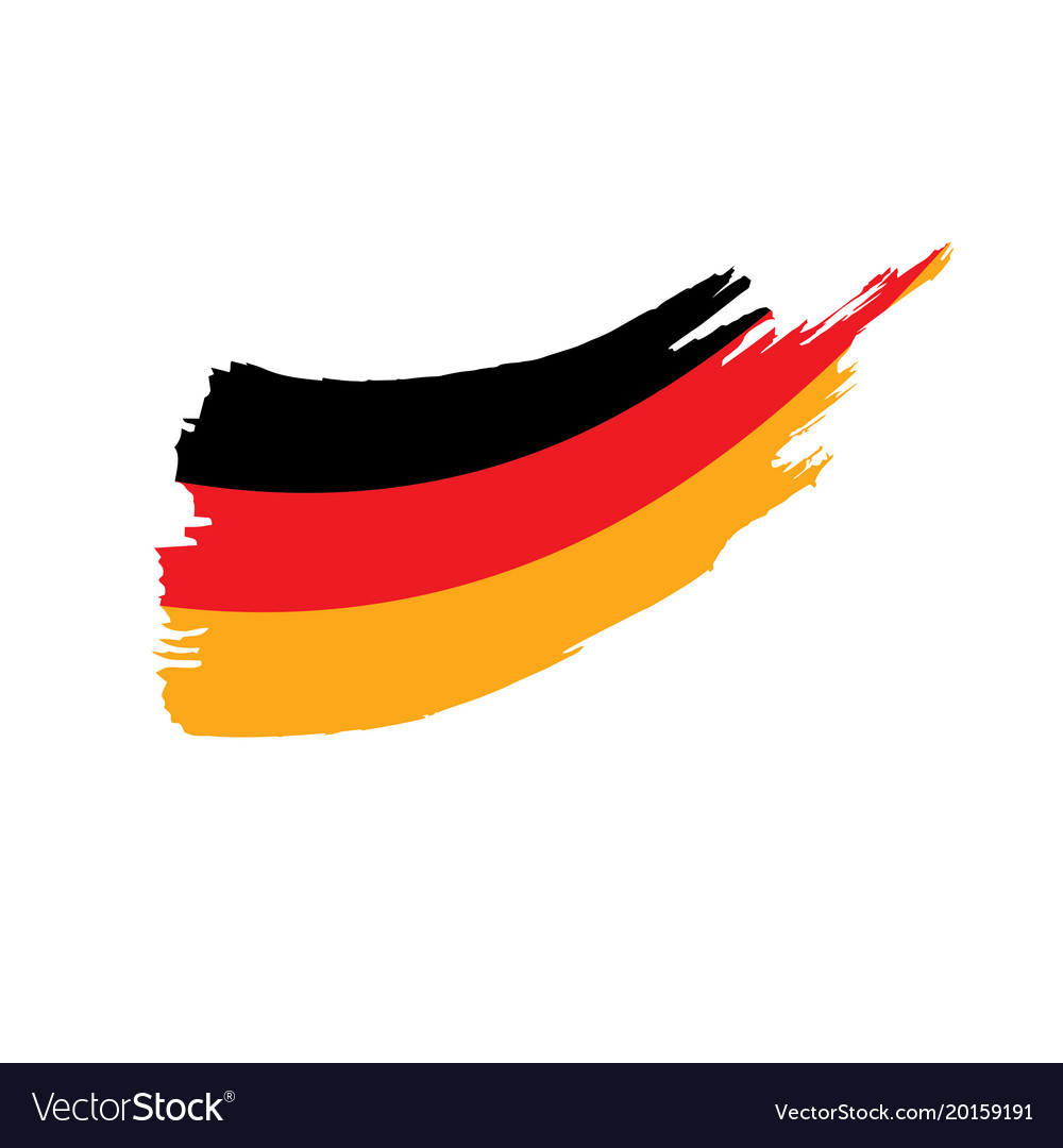 germany flag royalty free vector image vectorstock