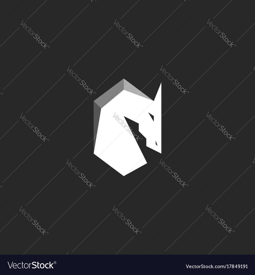 Horse head logo abstract figure of a stallion