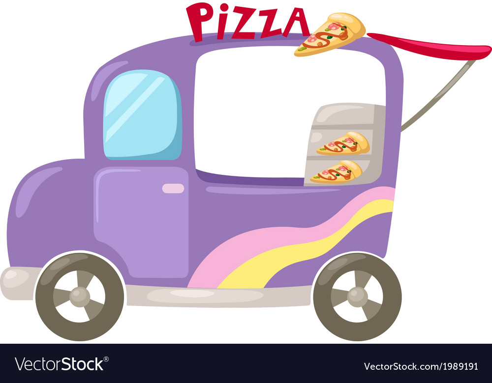 Italian pizza delivery car vector image