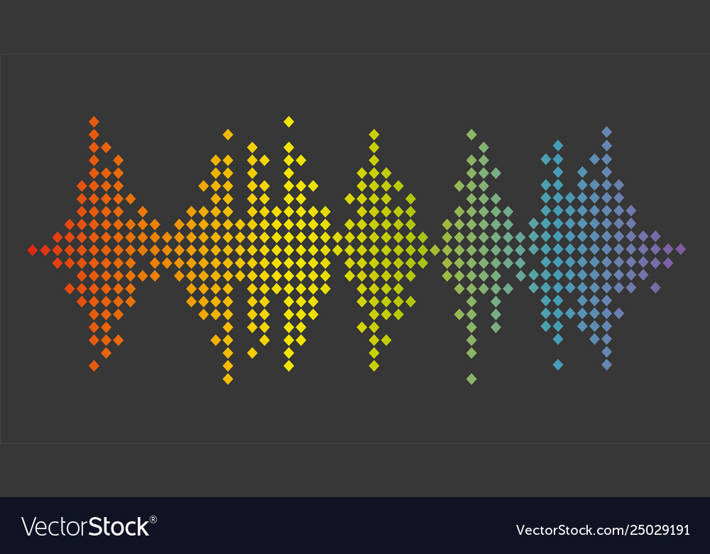 Sound banner color logo equalizer isolated