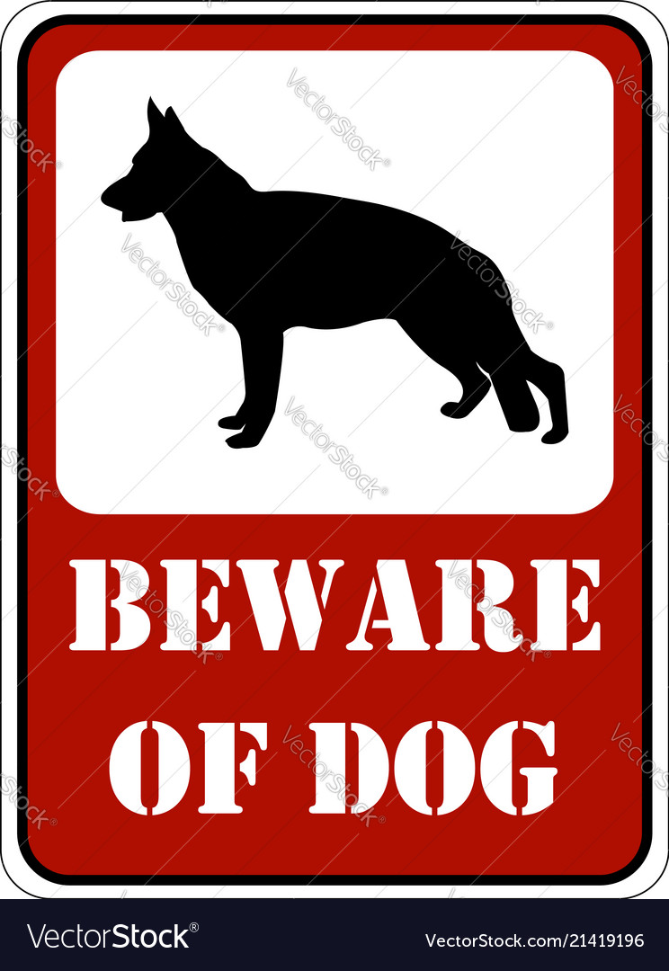 Dog Sign Royalty Free Vector Image