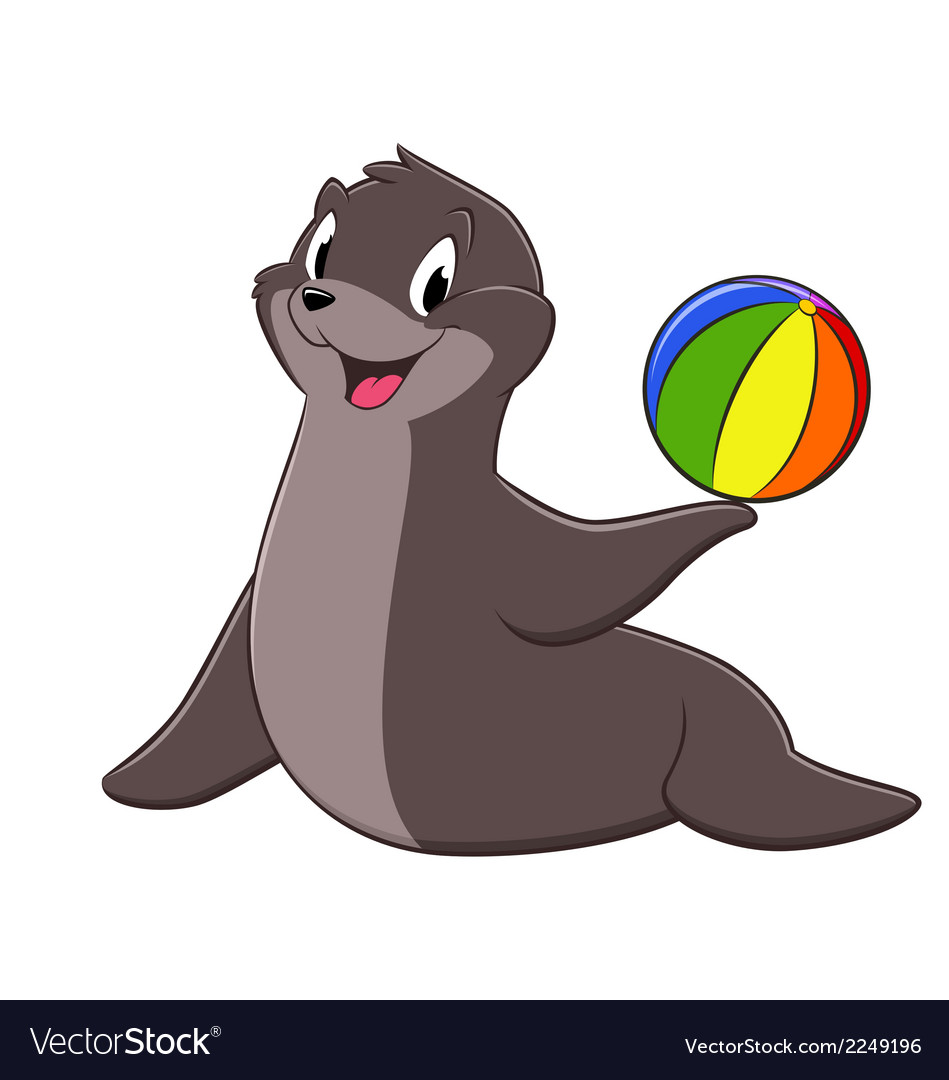 cartoon sea lion royalty free vector image vectorstock rh vectorstock com cartoon sea life cartoon sea life clipart