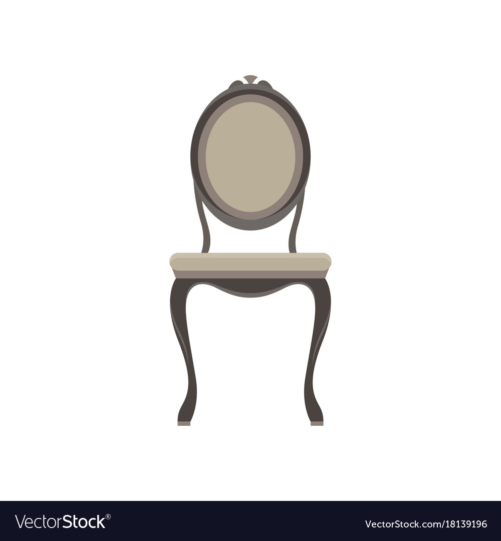Chair classic furniture icon set design retro