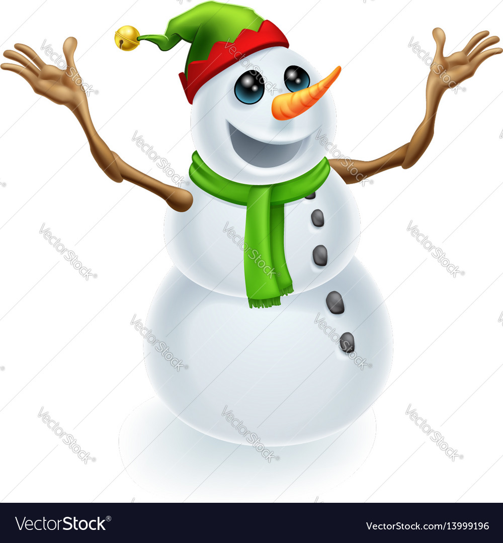 Happy christmas snowman vector image