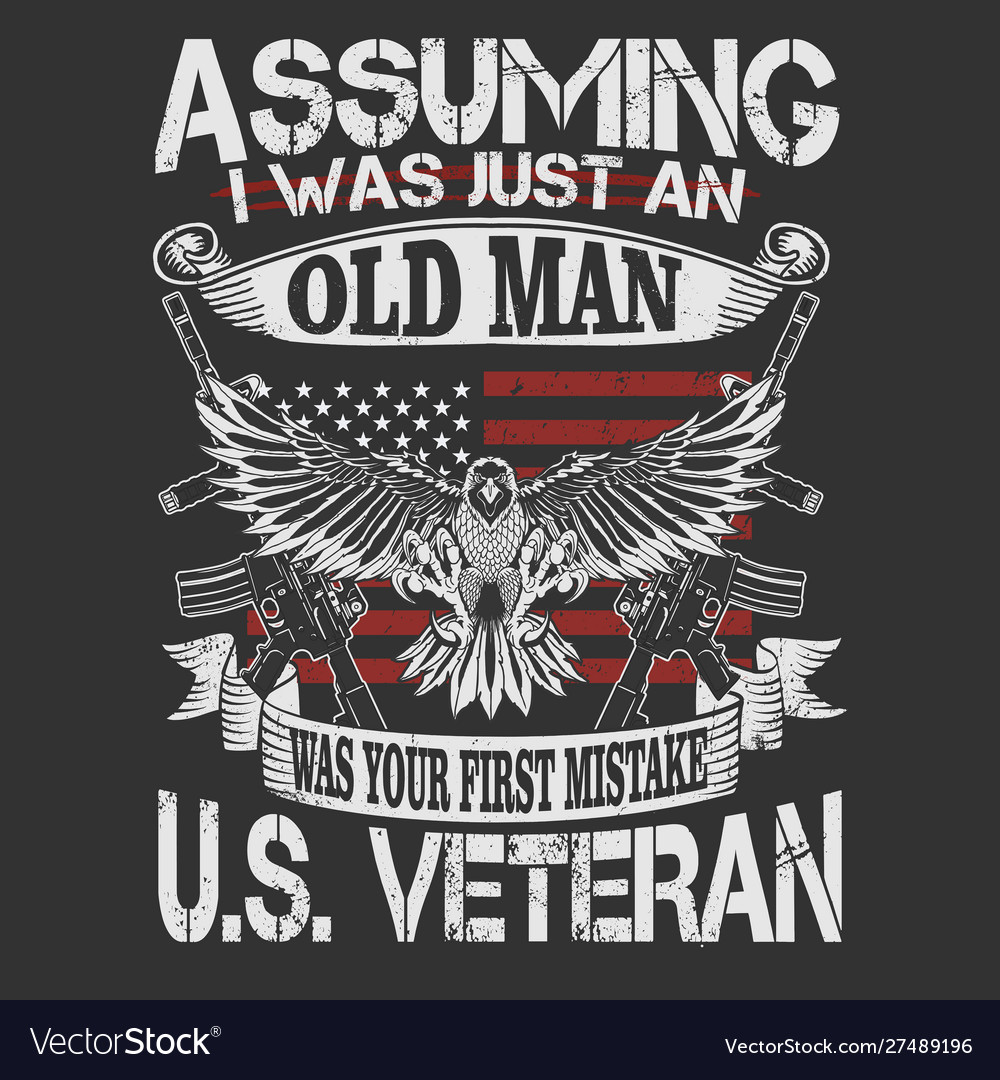 Old man umerican veteran