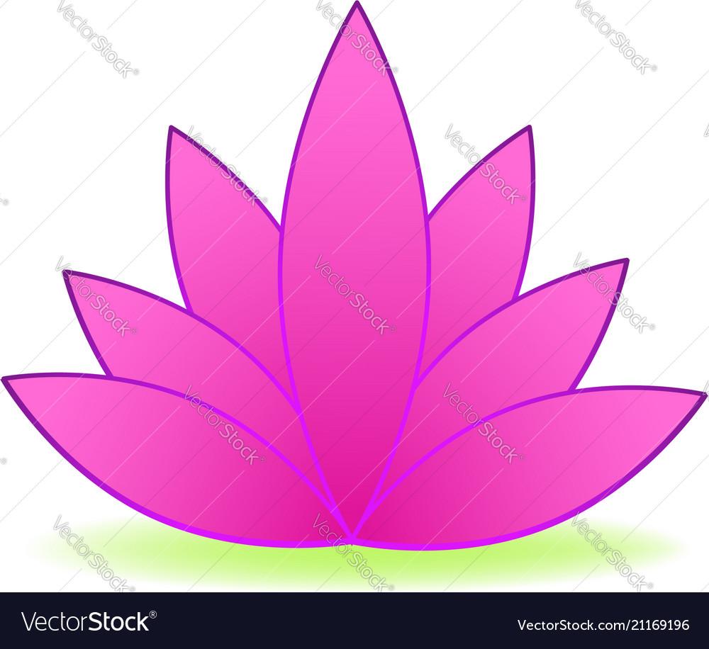 Pink lotus flower logo design
