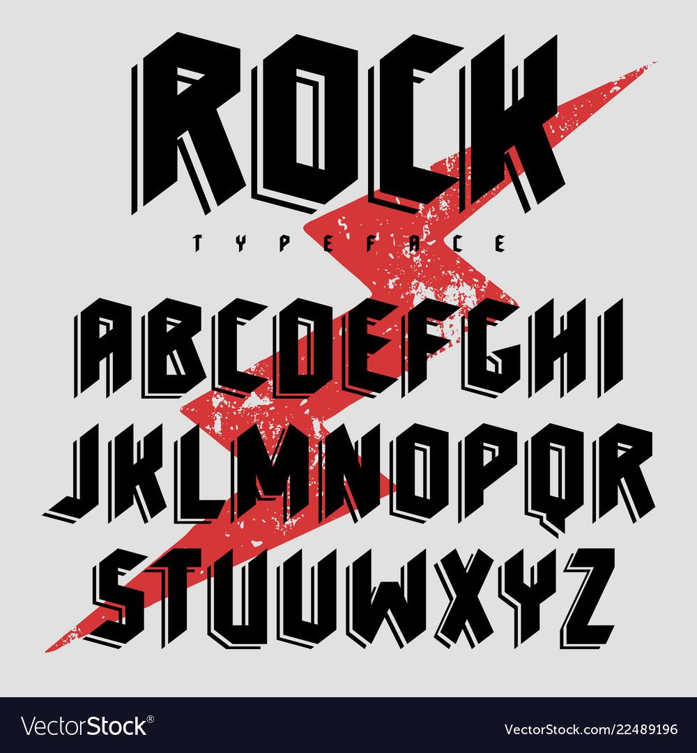 Poster font 004