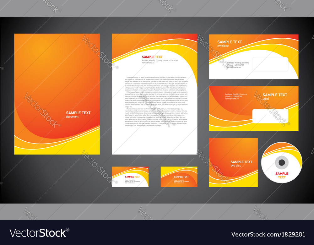 Abstract creative corporate identity line wave vector image