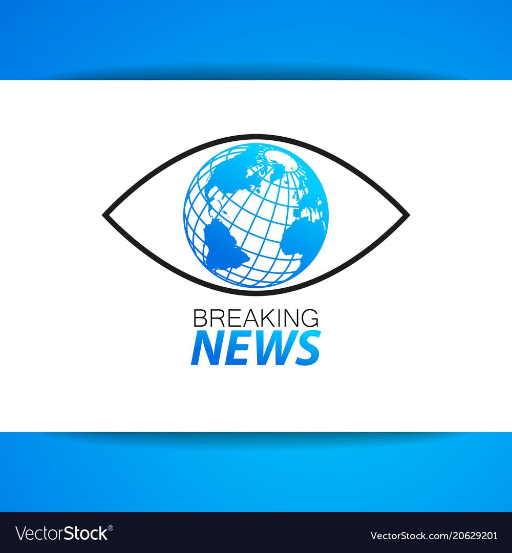 Breaking news logo template royalty free vector image breaking news logo template vector image maxwellsz
