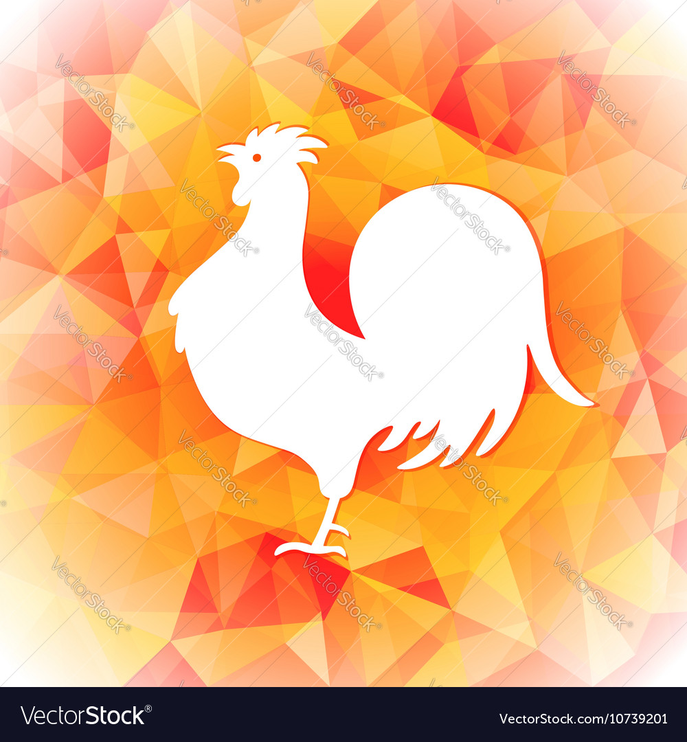 Bright polygon a rooster happy