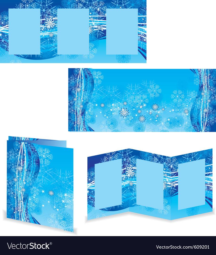 Christmas booklet or folder image vector image