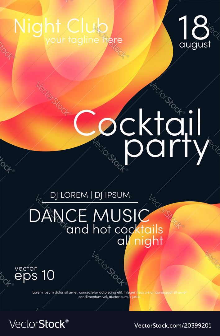 Cocktail party poster music poster background