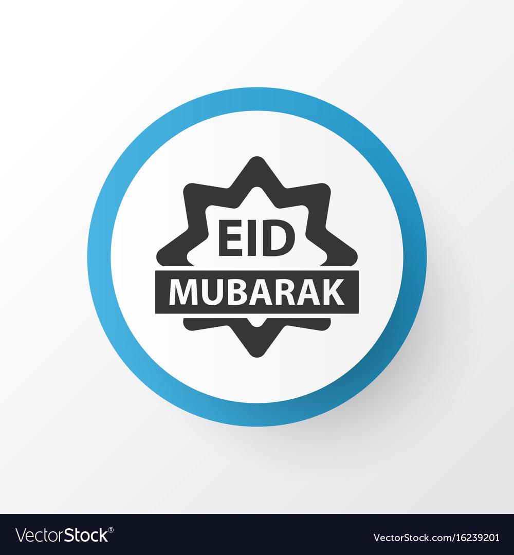 Eid mubarak icon symbol premium quality isolated