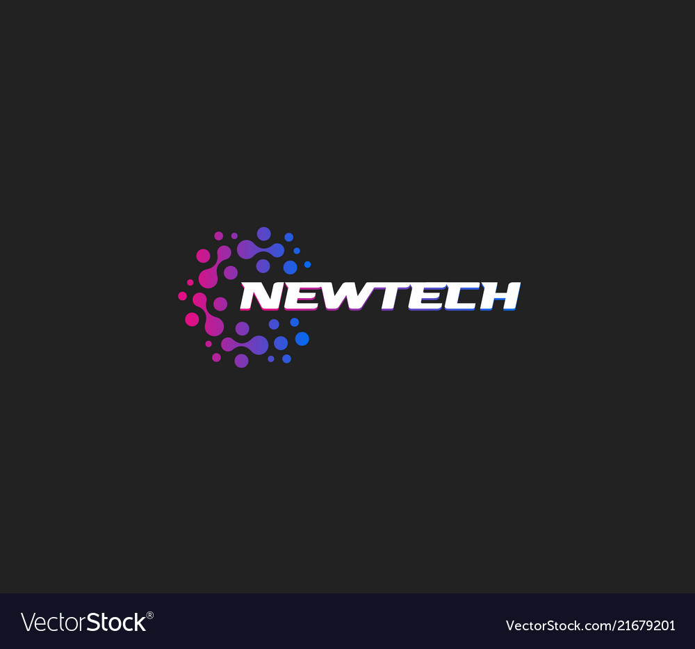 Newtech logo abstract logotype new