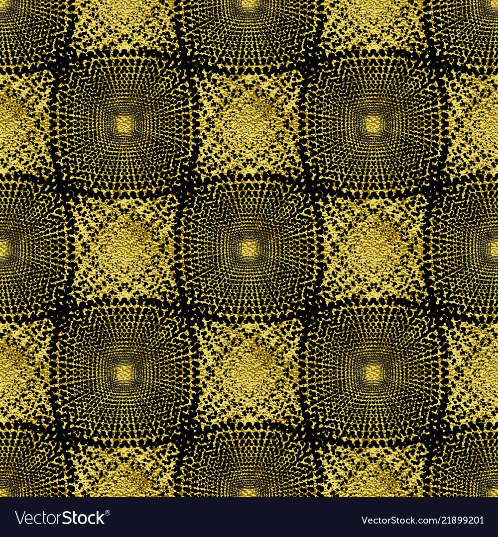 Seamless gold abstract geometric pattern