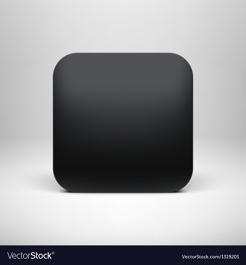 technology black blank app icon template vector image