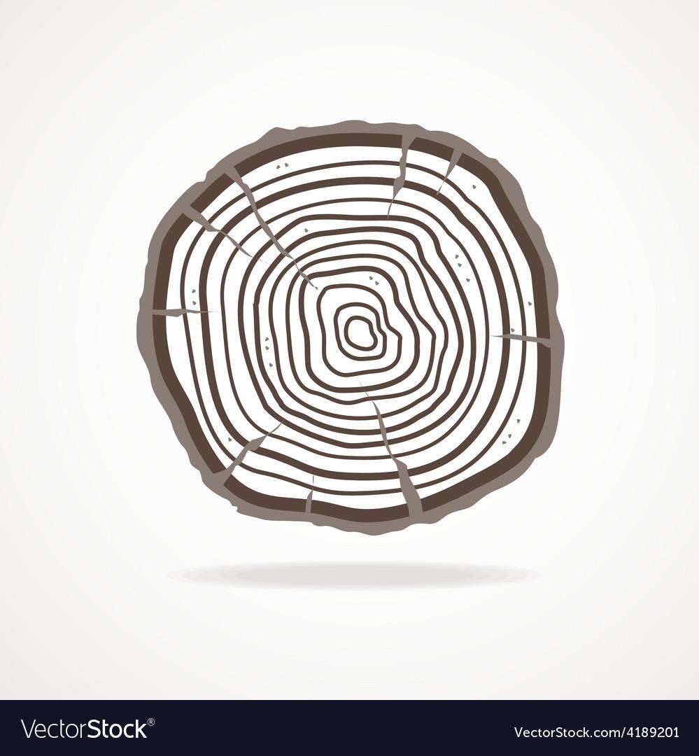 Tree Rings Flat Design Royalty Free Vector Image