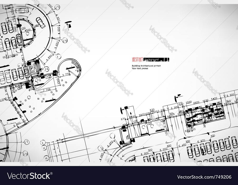 Background architectural sketches