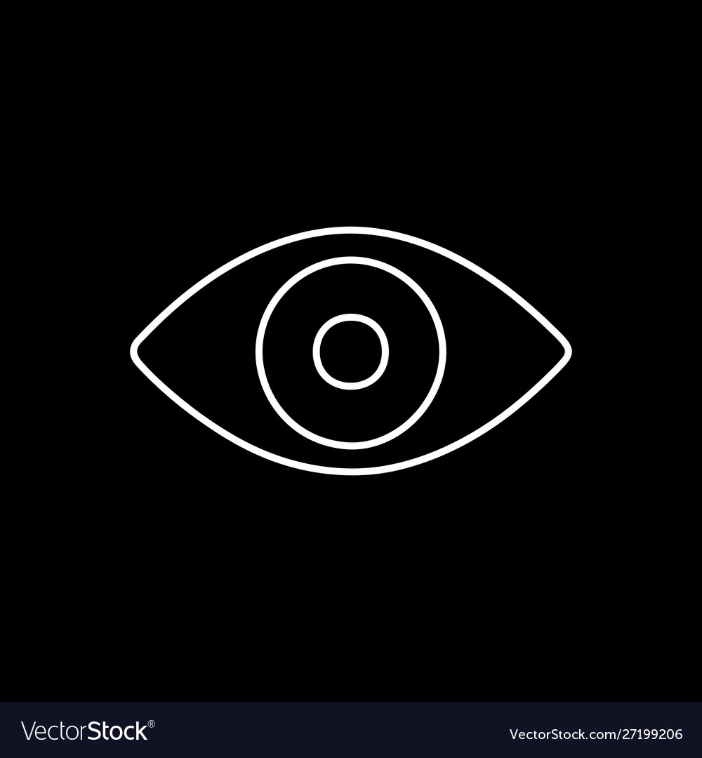 Flat line eye icon