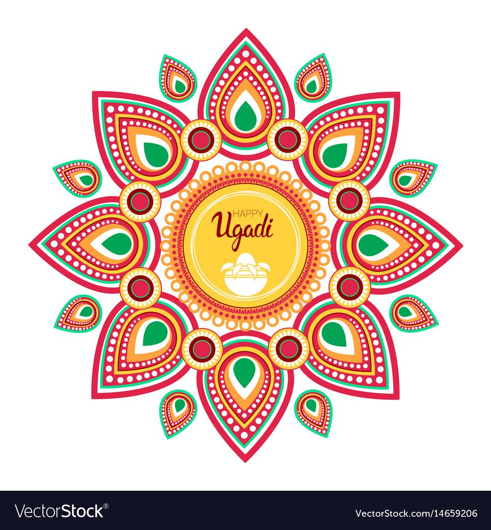 Happy Ugadi Gudi Padwa Hindu New Year Greeting Vector Image On Vectorstock