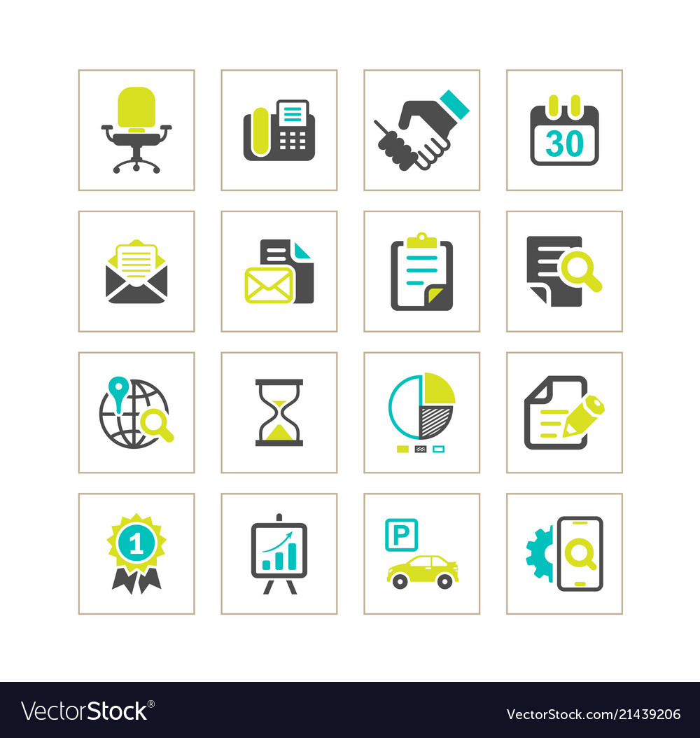 Media and office icons set