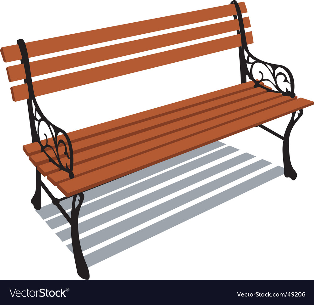 Park bench vector art download vectors