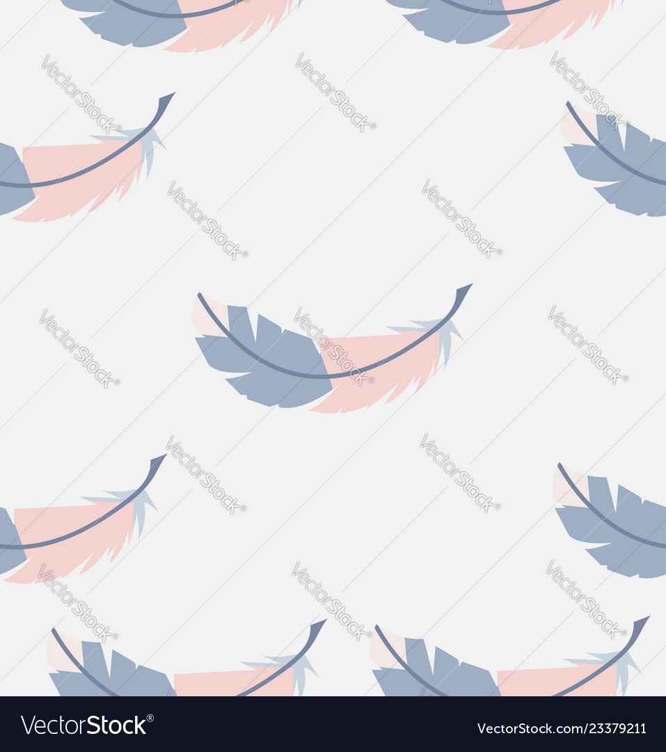 Abstract seamless feathers pattern