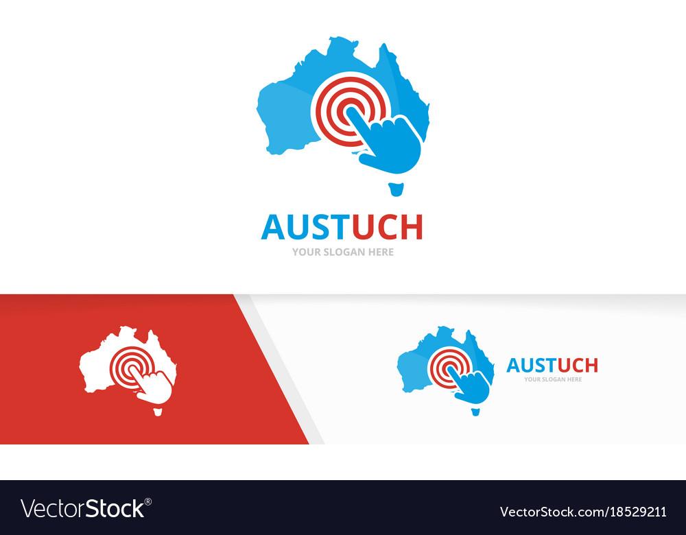 Australia and click logo combination vector image on VectorStock