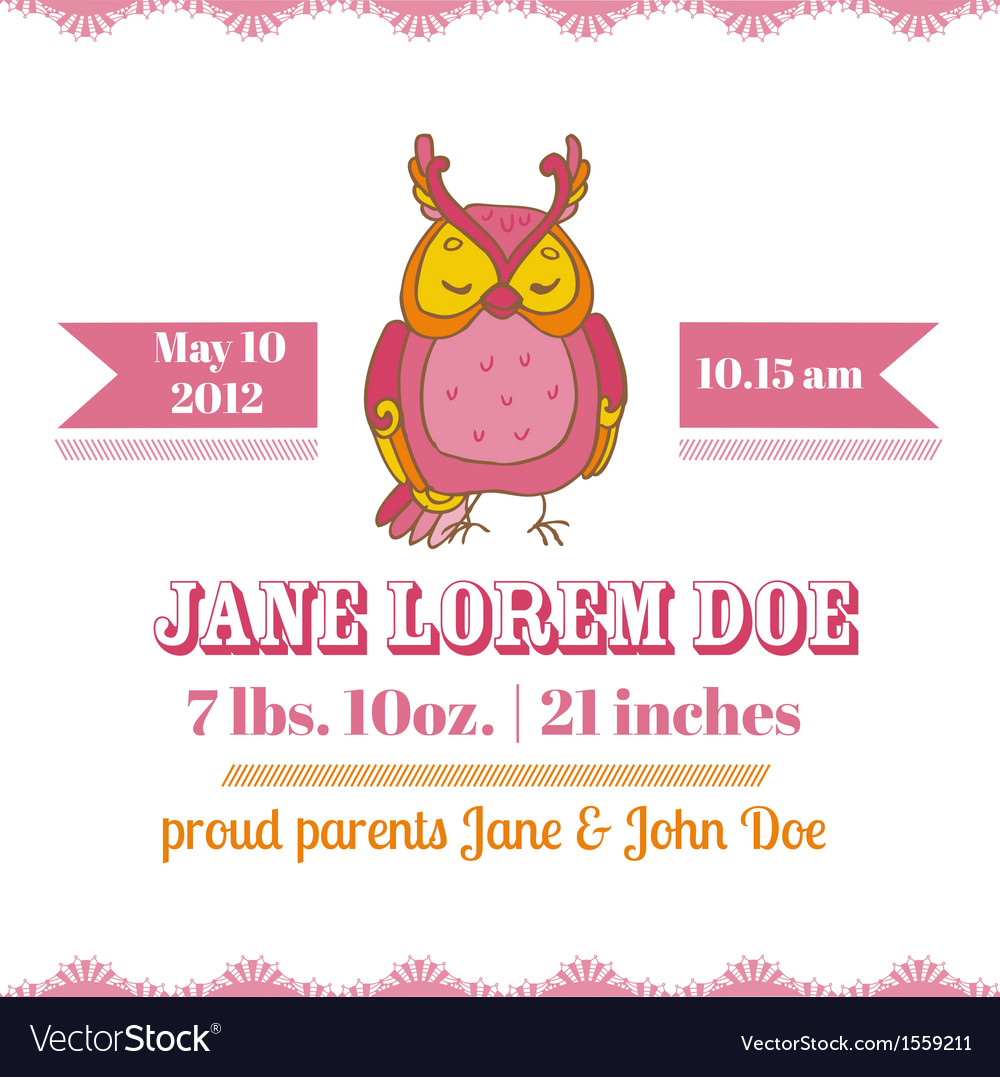 Baby Shower or Arrival Cards - Owl Theme